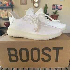Adidas yeezy v2 triple white size 7.5 woman